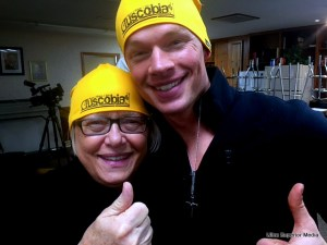 Mary Hilfiker enjoyed her time at the 2016 Tuscobia Winter Ultras shown her with Minneapolis actor Tyler Jensen