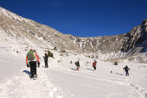 November Snowshoe Touring in Ptarmigan Cirque