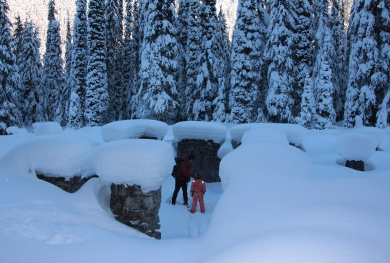 Exploring the historic Glacier House ruins at Rogers Pass