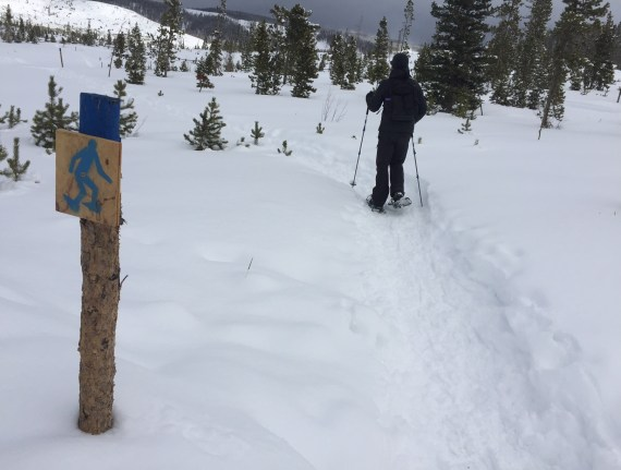 Snowshoe trail at Devil's Thumb Ranch. Photo by Kim Fuller.