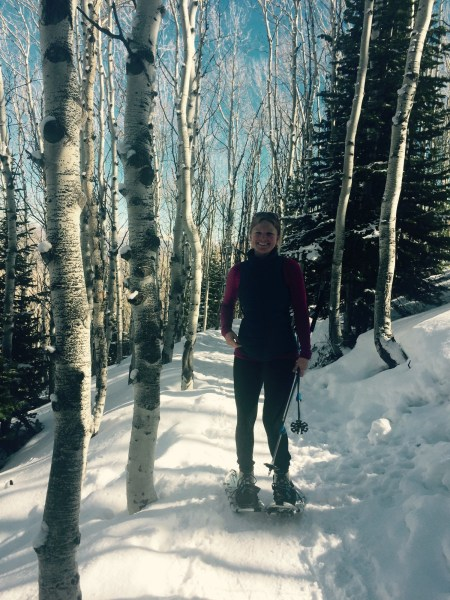 Writer Kim Fuller on the trail in Park City. Photo by Victoria Ritzinger.