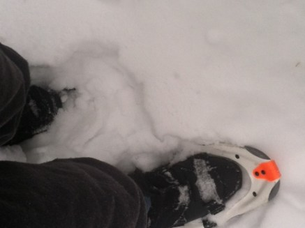 Snow kept away from the foot: good!