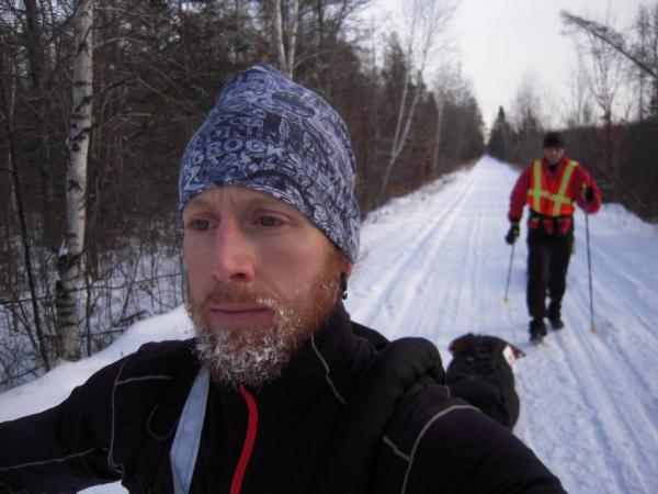 John Storkamp's self portrait in his 150 mile 2012 Tuscobia win.