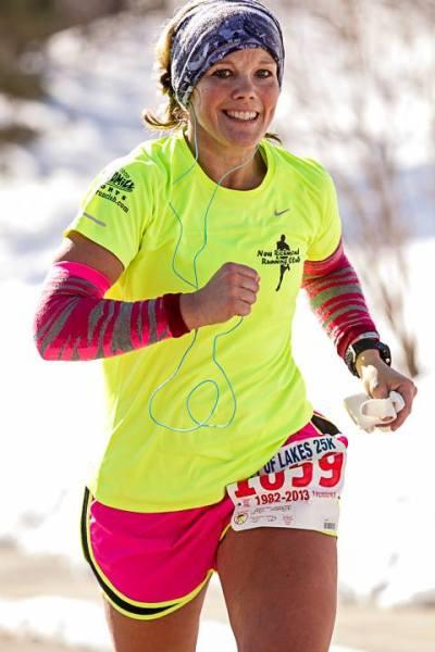 Stephanie Johnson-Hoff blazing brightly the Ron Daws road course. Photo by Wayne Kryduba