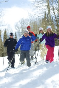 """I think snowshoeing is going in popularity,"" says White Pine Touring snowshoe guide, Victoria Ritzinger. ""It's really a great opportunity for people who don't enjoy skiing, or are older, or have been injured. Even young people who are injured and cannot ski can often come snowshoeing."" Photo courtesy of Vail Resorts."