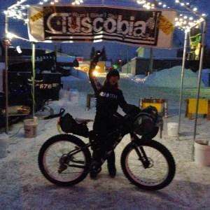 Jill Martindale celebrates another Salsa Bike Win at Tuscobia
