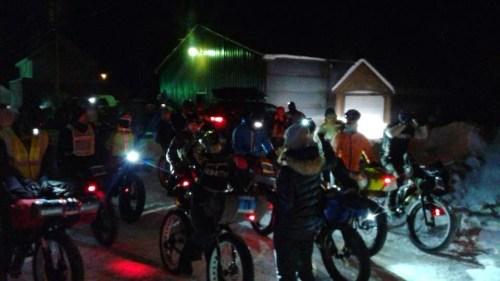 Vibrant start of the 150 Mile Bike Brigade