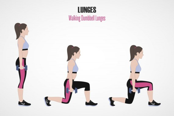 Walking Lunges- Exercise