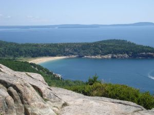 Ocean views from the carriage paths in Acadia National Park