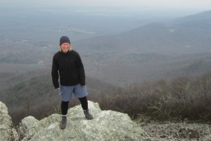 Bambool Thermics pants layered under shorts.  Photo taken in Shenandoah National Park.  Credit: Ben Lieberson