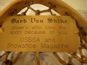 snowshoe braveheart barb van Skikes sp award