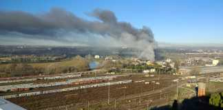 Incendio tmb-Salario a Roma