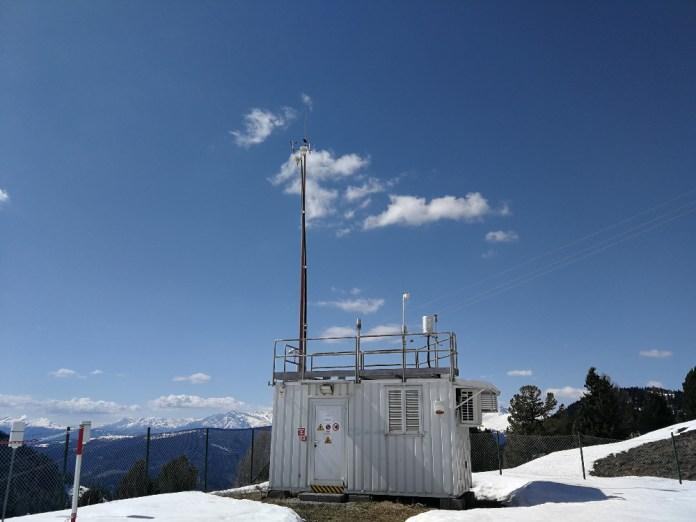 La stazione del Renon (Bolzano), situata a 1770 m., una delle stazioni della rete fissa per il monitoraggio della qualità dell'aria in Alto Adige