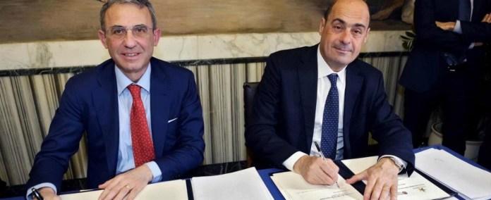Sergio Costa e Nicola Zingaretti