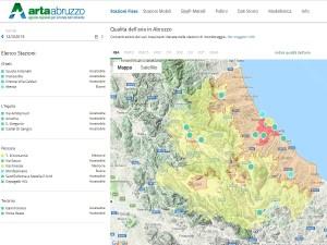 Qualità dell'aria in Abruzzo, on line il nuovo portale con i dati Arta