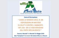 A Pescara corso Arta Abruzzo sulla legge ecoreati