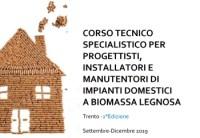A Trento, nell'ambito del progetto Prepair, corso per progettisti, installatori e manutentori di impianti domestici a biomassa legnosa