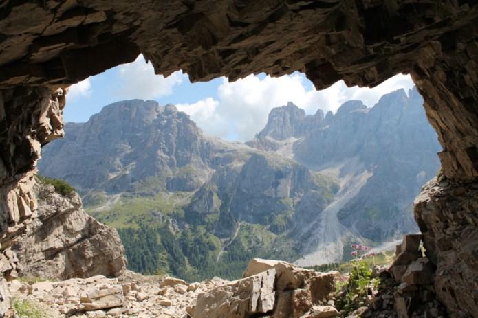 Finestra naturale sulle Dolomiti