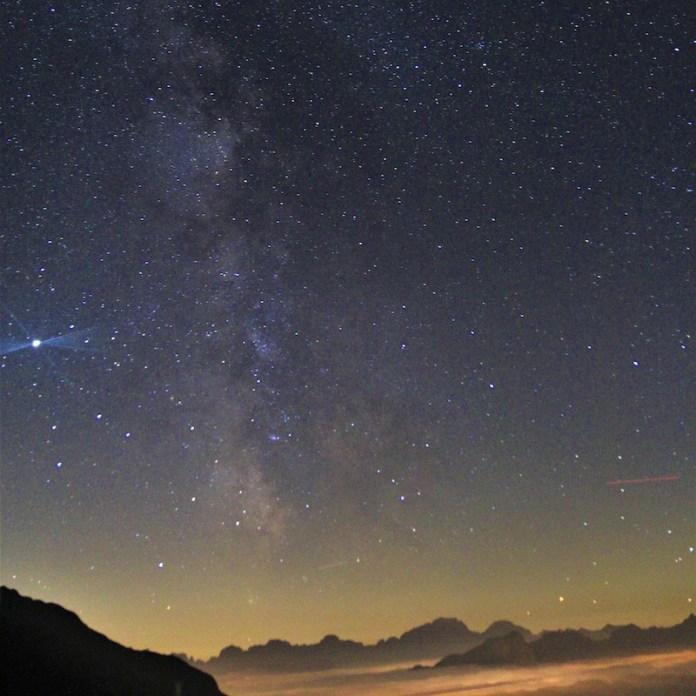Giove, Via Lattea e...inquinamento luminoso!