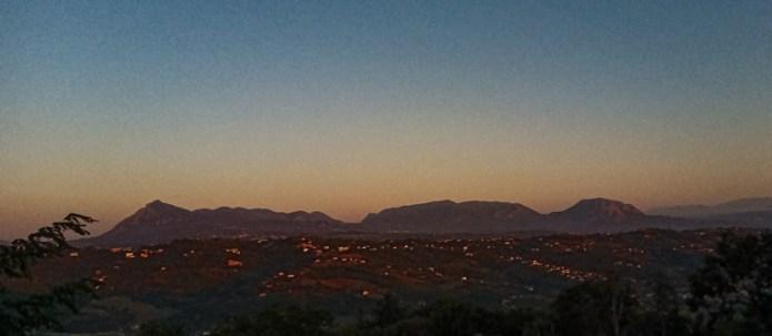 L'alba della Dormiente - Gruppo montuoso Taburno-Camposauro, prov Benevento