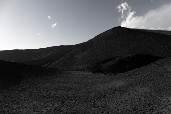 Ambiente lunare sull'Etna