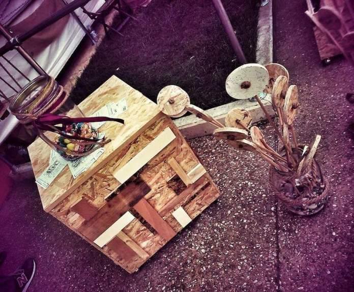 Forme nuove: recupero di scarti del legno-Roma