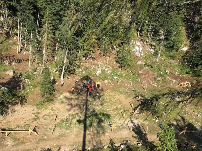 Passo Pura, campo prova sperimentale per far rinascere il bosco