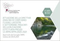 Attuazione della Direttiva 2000/60/CE corpi idrici fluviali, lacustri e sotterranei. Risultati della rilevazione effettuata presso le Arpa/Appa 2020-2021