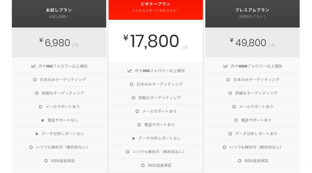 インスタグラム運用代行 IGBOOSTER+ 料金