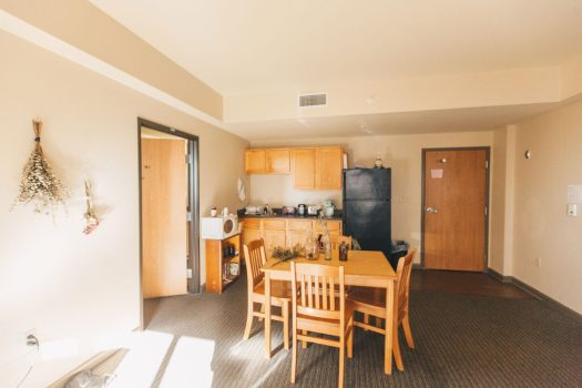The kitchen inside AM Hills Dorm