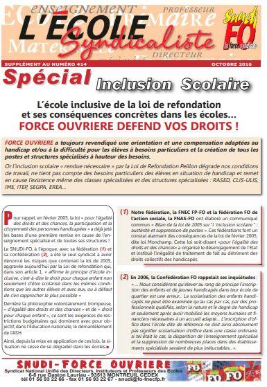 spécial inclusion - 03/2016