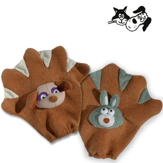SnuggleSafe pet wash gloves