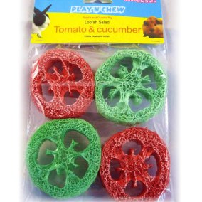 Play and Chew - Loofah Fruits - tomato and cucumber