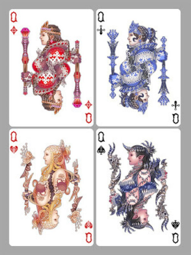 http://wen-m.deviantart.com/art/Playing-Cards-Queens-327240339