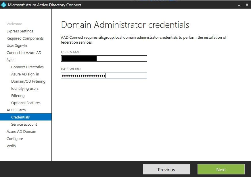 Domain admin credetnials