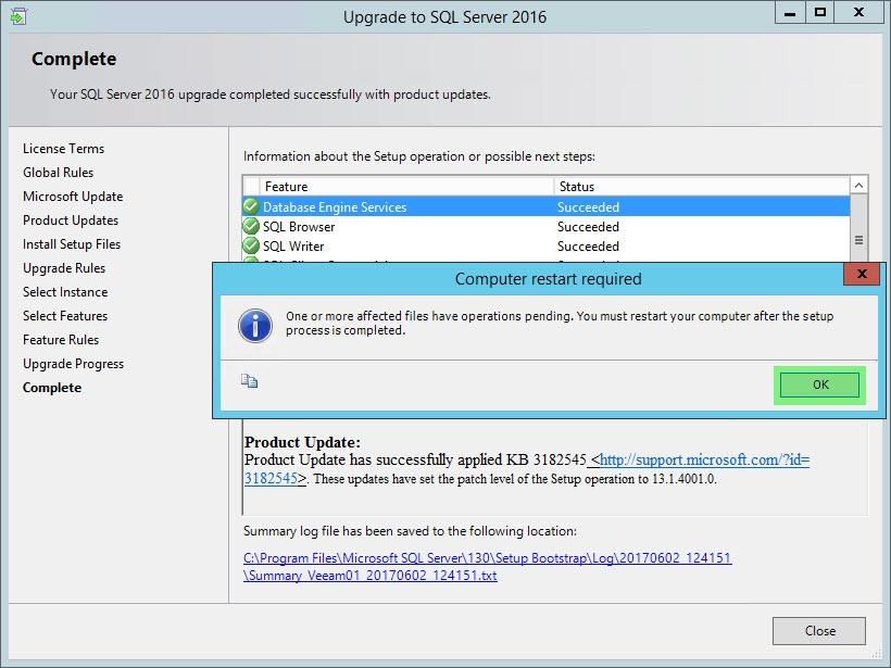install sql server express 2016 sp1