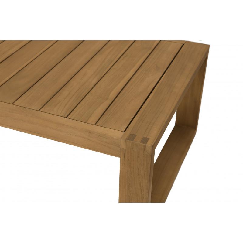salon de jardin 5 places table basse canape d angle en teck avec coussin taupe palma
