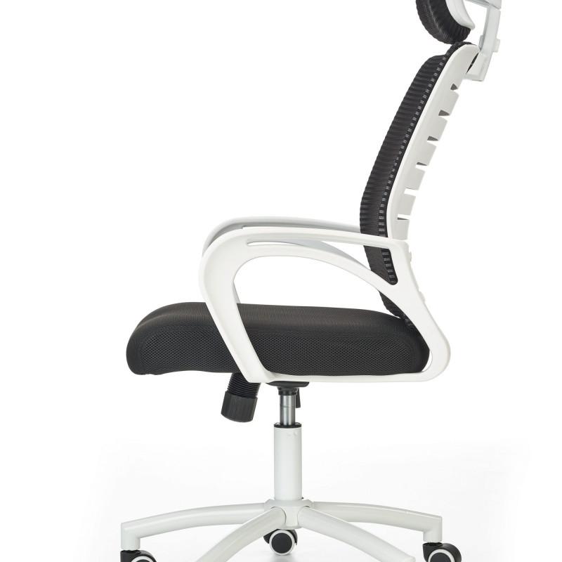 chaise de bureau design noir et blanche flavie