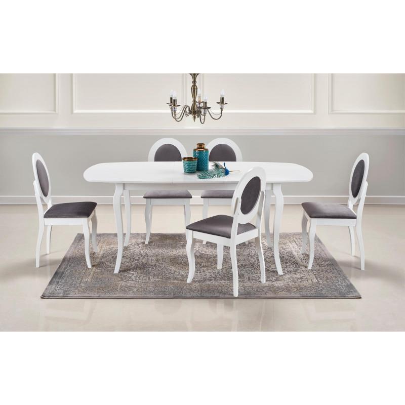 table de salle a manger baroque blanche extensible 150 190cm barroco