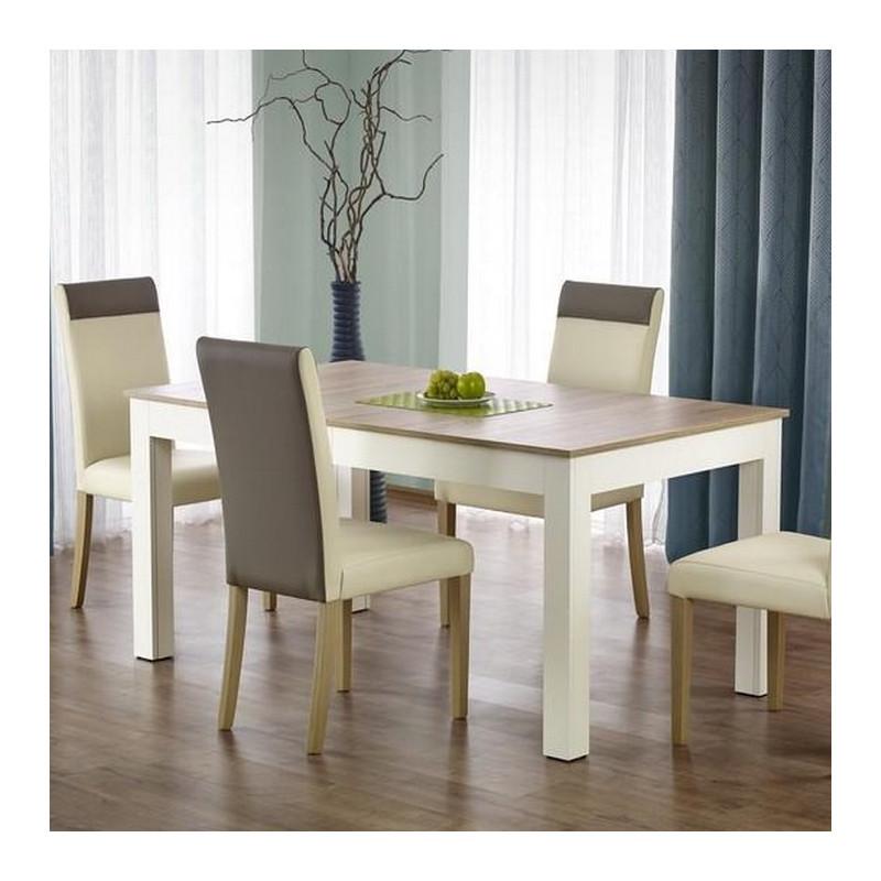 promo table a manger avec rallonge 300x90x76cm melino