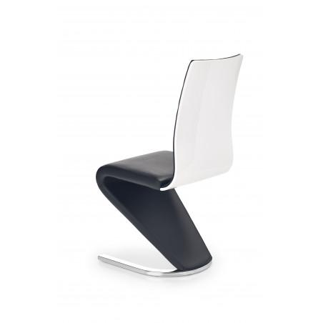 chaise design noire et blanche pied u horine