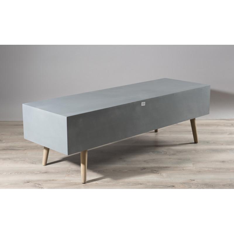 meuble tv banc design effet beton thea