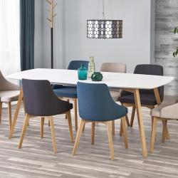 table a manger design scandinave 85x150 200cm vanille