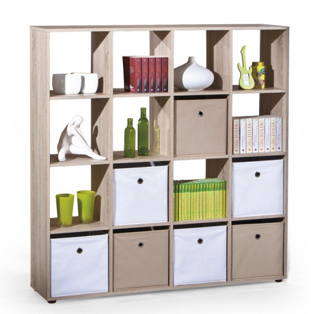 meuble de rangement bibliotheque carre couleur bois danang