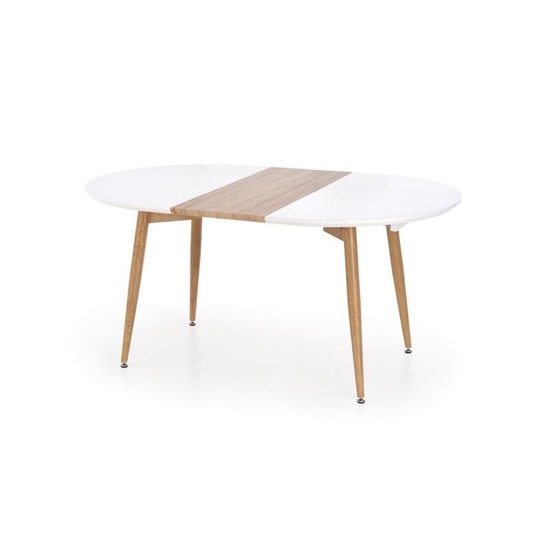 table a manger scandinave avec rallonge 160 200cm x 90cm harry
