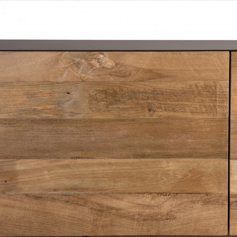 meuble tele industriel bois et metal 166x45cm nolwen