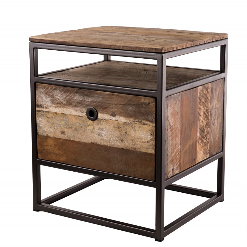 table d appoint style industriel 47x40cm tinesixe