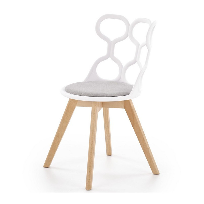 chaise scandinave design avec assise grise lali
