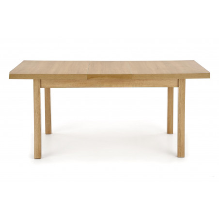 table rectangulaire extensible 140 220cm style chene dore squirrel