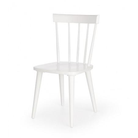chaise design bois blanc lori
